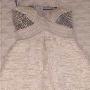 jonathon simkhai white feather dress size 2